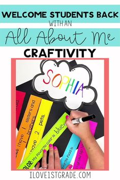 First Grade Back to School Crafts