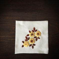 秋色刺繍。 ・ ・ ・