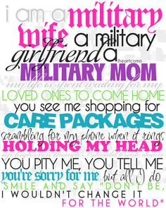 I am a military wife... (made by me!)