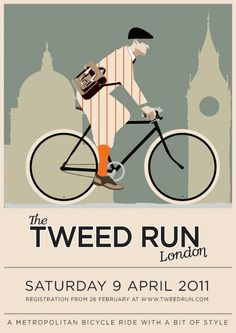 poster by hicksdesign I like tweed, but as cycling gear wow, I bet it was hot work.. Lol