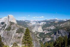 Glacier Point view at Yosemite National Park.