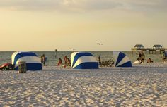 Enjoy a white sand beach and gorgeous sunsets at Clearwater Beach in Tampa, Florida.