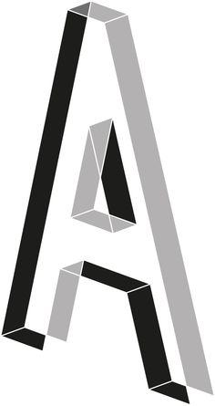 Por medio de figuras geométricas básicas podemos observar el efecto 3D en la letra A