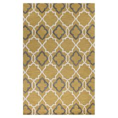 Showcasing a quatrefoil-inspired trellis motif, this eye-catching wool rug adds visual appeal to your living room or study.  Product...