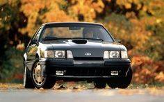 Ford Mustang SVO Turbo 4 Cyl. The legendary 1984 SVO Mustang.  A lot of HP from a 4 cylinder.