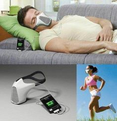 air mask charges iPhone with your breath