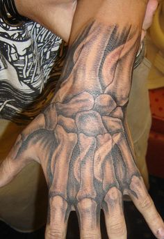 hand tattoo.....always wanted to do thus except down my spine.