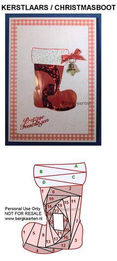 Christmas Boot : Iris Folding pattern