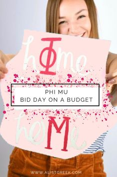 Bid Day is the best day of recruitment, it's the most fun, most laid back and you don't have to break the bank to make it memorable. Follow these tips to make your Phi Mu Bid Day both amazing and affordable. #phimu #bidday #biddayplanning