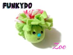 Fleece Catnip Toy, Funkydo Zoe by KittyJoyCatToys