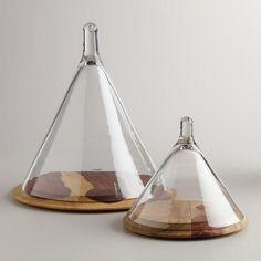 Conical Cloche [Cost Plus World Market] Decorative Accessories, Home Accessories, Verre Design, Glass Domes, Glass Jars, World Market, Glass Garden, Hand Blown Glass, Home Accents