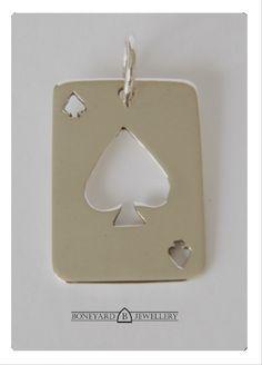 Ace Of Spades, Poker, Drop Earrings, Jewellery, Sterling Silver, Pendant, Store, Cards, Gifts