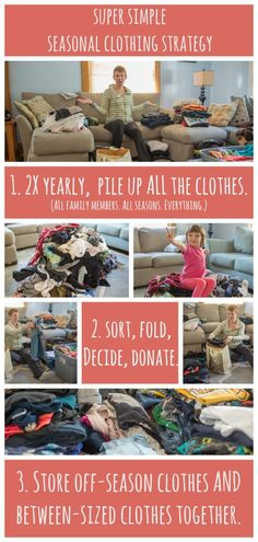 A super-simple strategy for organizing hand-me-downs & off-season clothes. Love, love, love this idea from @Meagan Francis.