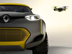 renault KWID concept: an off-road car with built-in drone quadcopter