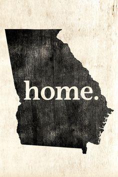 Georgia Home Poster Print - Keep Calm Collection