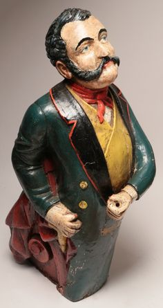 Figurehead - Carved Pine Polychrome Ship's Figurehead of Sir Francis Collier | Rafael Osona Auctions Nantucket, MA