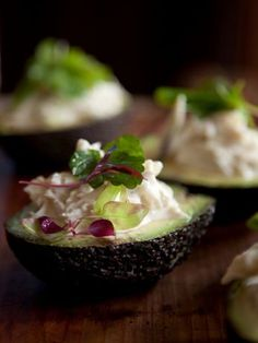 An avocado half makes the perfect vessel for this fresh, herb-flecked crab salad. With each spoonful, the rich avocado is the perfect foil to the sweet crabmeat and spicy horseradish dressing.