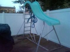 Diy Above Ground Pool Slide diy pool slide - google search | outside | pinterest | diy pool