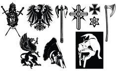 Medieval Crest & Armor Vector Pack for Adobe Illustrator