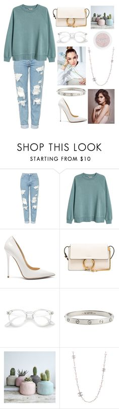 """""""for my sympathy"""" by polysetter-862 ❤ liked on Polyvore featuring Topshop, H&M, Jimmy Choo, Chloé, Cartier and Chanel"""
