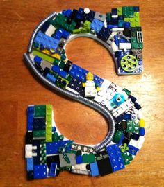 """Custom Lego Letter """"S"""", via Etsy"""