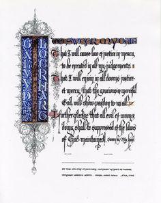 Medieval Reenactment Scroll | Hand Calligraphy Illuminated Award | THE GORST STUDIO