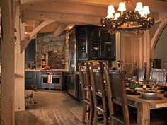 Dining Room: Timber-Frame Home in Ellicottville, N.Y. ERA Team VP Real Estate - listing agent Amy DeTine - $1,600,000