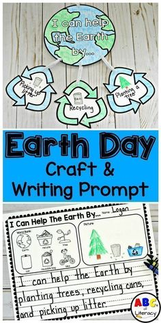 This Earth Day Craft and Writing Prompt is a fun and creative way to get children to think and write about how they can help the Earth in celebration of Earth Day. It is an easy, printable activity and requires little prep. This Earth Day craft for kids is perfect for Kindergarten through 2nd grade. #earthdaycrafts