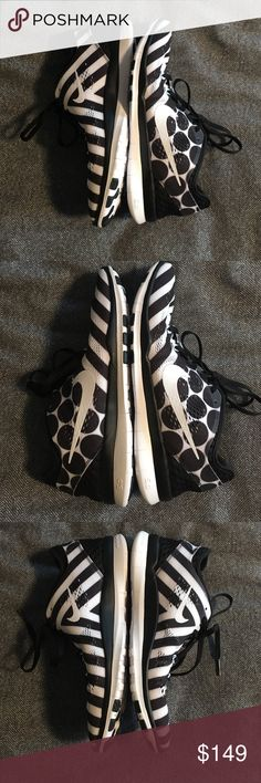 NEW RARE Nike stripe polka dot black white sneaker Brand new Nike FREE 5.0 black and white stripe and polka dot sneakers!! Nike Shoes Sneakers