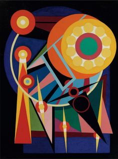"Auguste Herbin (1882-1960), 1941, ""Le soileil et les planètes"", oil on canvas."