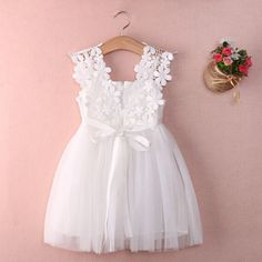 Baby Girls Flower Gown Lace Dress for 2-6T - More Choices Available