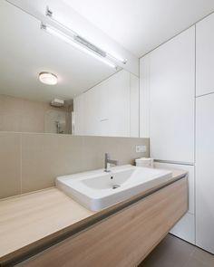 Realization of interior_ bathroom One Bedroom Apartment, Double Vanity, Alcove, Toilet, Sink, Bathtub, Bratislava, Interior Design, Bathrooms