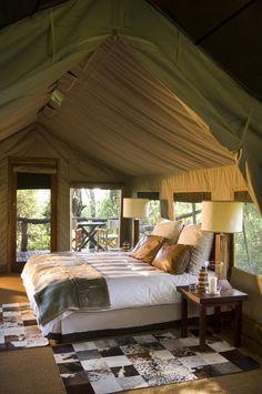 Glamping at Nxabega Okavango Safari Camp, Okavango Delta, Botswana Luxury Tents, Luxury Rooms, Luxurious Bedrooms, Luxury Camping Tents, Kenia Hotel, Gazebos, Tent Living, Okavango Delta, Camping Glamping