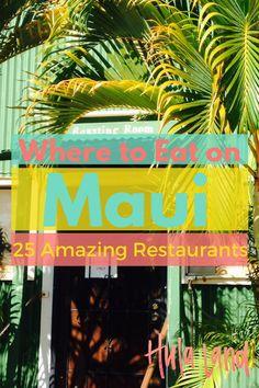 Best Fine Dining Restaurants on Maui Where to eat on Maui: the 25 best restaurants in Maui.Where to eat on Maui: the 25 best restaurants in Maui. Maui Hawaii, Kauai, Hawaii Life, Hawaii 2017, Wailea Hawaii, Visit Hawaii, Trip To Maui, Hawaii Vacation, Beach Trip