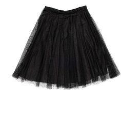 Red Valentino Black Tulle Skirt ($410) ❤ liked on Polyvore featuring skirts, ballerina skirt, knee length tulle skirt, red valentino, tulle ballet skirt and tulle skirt