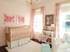 Project Nursery - Pink, Mint and Gold Nursery