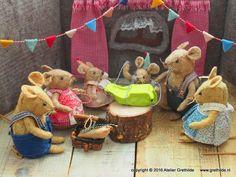 Feest in het muizenhuis - Atelier Grethilde