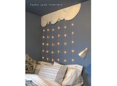 Guirlande lumineuse chambre enfants funky junk interiors