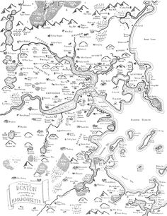 maps of modern cities drawn in the style of jrr tolkien
