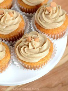 Double Butterscotch Cupcakes, delicious dessert!