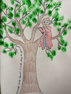 zacchaeus craft ideas...use thumb prints or green tissue paper