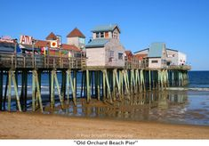Old Orchard Beach in Maine. It was quite crowded but it was my first time in the ocean so I was excited to be there!