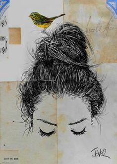 "Saatchi Art Artist Loui Jover; Drawing, ""hearts afar"" #art"