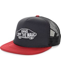 2ba536e42a5 Vans Classic Patch Black and Rhubarb Trucker Hat