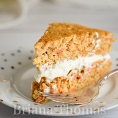 Carrot Cake with Cream Cheese Frosting - Briana Thomas