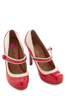 'S Marvelous Heel in Scarlet. This new colorway of one of your favorite ModCloth items was picked by you in our Be the Buyer Program and will be sold exclusively online at ModCloth! #red #modcloth