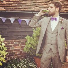 """#swigflasks Michael Hobson #01841 #mannemSWIG """"just wanted to say thank you for the flask. It was the highlight of our wedding. I've. Attached some pics of husband on wedding day in sept drinking from it. So a massive thank you from the two of us. We love it. """""""