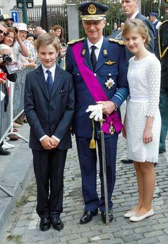 """FETE NATIONALE DE LA BELGIQUE """" FAMILLE ROYALE AU TE DEUM A BRUXELLES """""""