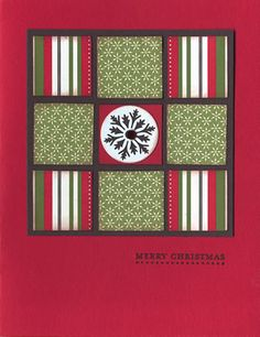 handmade patchwork quilt card ... easy with pretty patterned papers ... nine patch ...