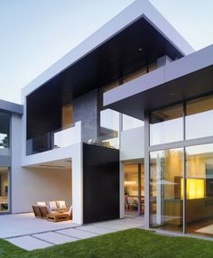 Modern house, unique shapes and design